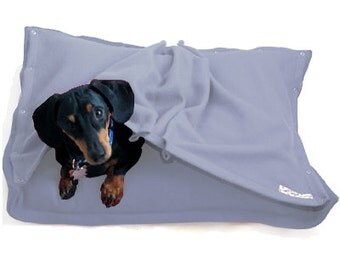 Eco Pet Bed - Recycled Sky Blue Fleece