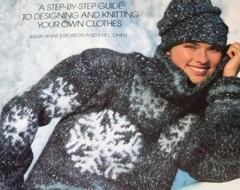Sweater Knitting Patterns Knitting by Design Anne Erickson Eve Cohen Cardigan Vest Skirt Dress Christmas Vintage Paper Original NOT a  PDF