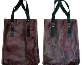 leather handmade stitched embellished bag beautiful bargain SAMPLE SALE