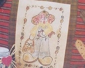 Primitive Needlework Pattern by Meme's Quilts-- Chicken, Eggs, Embroidery, Sewing, Quilting