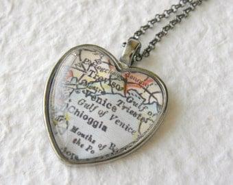 Venice Map Necklace
