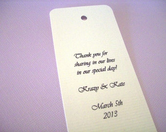 Personalized - 20 Wedding Bookmark - Personalized Bookmarks