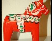 Vintage 1960's Authentic Nils Olsson Swedish Dala Horse