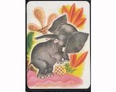Childrens Vintage Illustration Notebook - Saggy Baggy Elephant