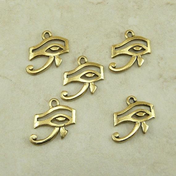 5 Eye Of Ra Egyptian Charms Symbol Sun God Horus By