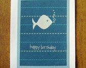 childrens birthday fish- happy birthday card