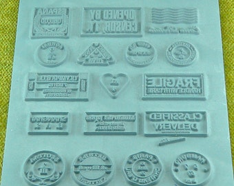 Lisa Pavelka Intricate Rubber Stamp Going Places, Vacation, Travel  Pattern