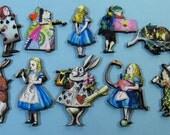 Alice in Wonderland Collection - 10 Laser Cut Wooden Pieces