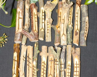 Large, Stunning Celtic Tree Ogham staves made with corresponding woods from England - Divination - Pagan, Wiccan, Witchcraft