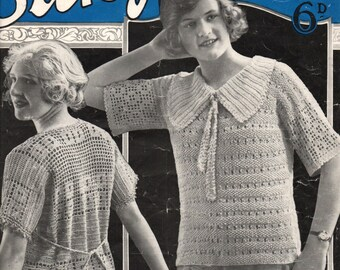 1920's Bestway Ladies Silk Jumpers Book Vintage Knitting & Crochet Book  pdf Fast Email delivery