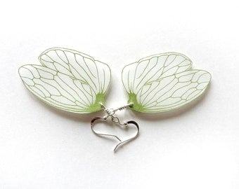 Leafhopper wing dangle earrings