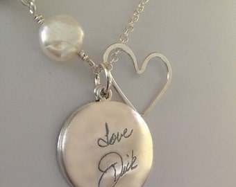 Your Own Handwritng Locket by donnaodesigns