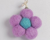 Felted Flower Pin Cushion for Needlework Chatelaine