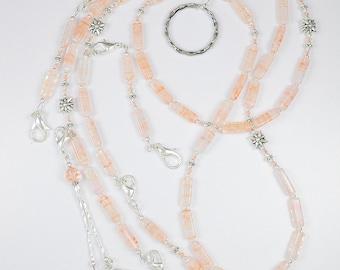 Apricot Ice Beaded Needlework Chatelaine