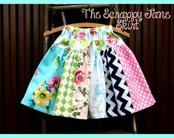 Instant Download The Scrappy Jane Skirt DIY Tutorial PDF Pattern Ebook Little Bird Lane Sizes 12 months to 12 Youth