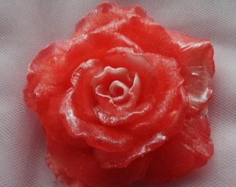 Rose Soap, 25 roses, Red Rose Soap, Gift for my love, vegan soap, Mother's Day Rose, Gift for mom, sweetheart soap, wedding favor soap