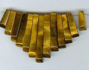 Tigers Eye Mini Cleopatra Collar Gemstone Fan Graduated 13pc Bead Set