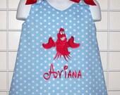 Sabastian Applique Monogram A-line Dress LITTLE MERMAID