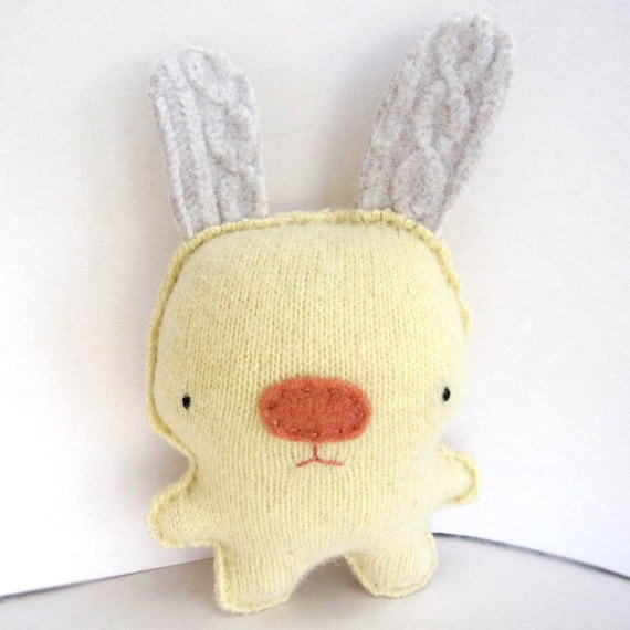 Yellow Rabbit - Recycled Wool Plush Toy