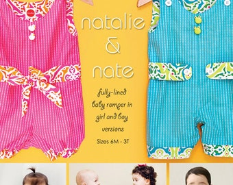 20% Off! Modkid PATTERN - Natalie and Nate - Fully-Lined Baby Romper