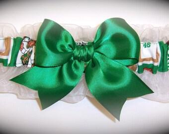 Boston Celtics Wedding Garter   Handmade  Keepsake  Bridal ew1