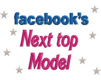 Facebooks next top model Tshirt Bodysuit any size Personalized embroidered