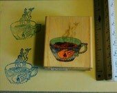 Gypsy tea used rubber stamp
