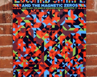 Edward Sharpe and the Magnetic Zeros- Hand-Printed Poster- VT