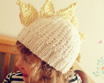 Child's Dinosaur Hat Knitting PDF Pattern
