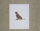 Chocolate Lab Dog Cards - Set of 8 Blank Note Cards