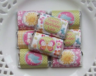 Printable Personalized Hello Sunshine Birthday Mini Candy Bar Wrappers
