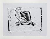 Postillion - limited edition fine art woodblock