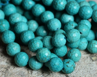 Turquoise faceted round 8mm (item ID L02TFR8)