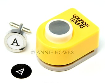 15mm Small Circle Paper Punch. Works Great with my easy Cuff Links. Annie Howes.