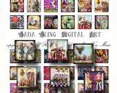 Circus, Carnival, Sideshow, inchies  INSTANT Download at Checkout...circus pendants, circus jewelry, inchie collage sheets for pendants