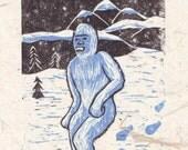 Yeti/Abominable Snowman DIGITAL PRINT