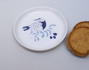 Ceramic plate - waterbird - sea level