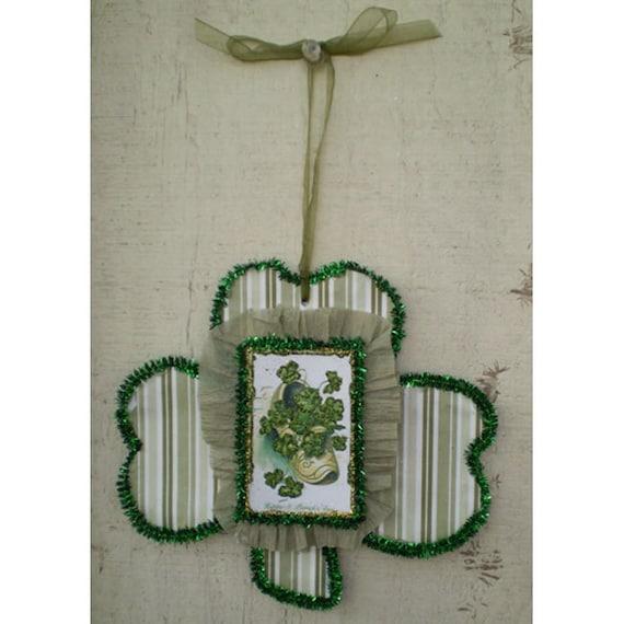 Irish lucky shoe St Patricks Day decoration good luck talisman vintage style spring home decor Celtic