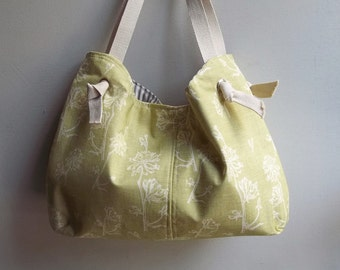 Apple Green Diaper Bag - Sling Bag Style - 3 Pockets - Key Fob
