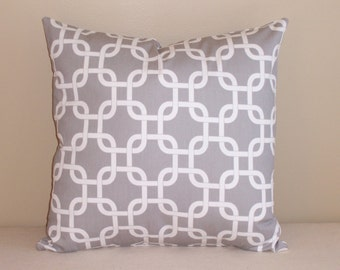 Decorative Throw Pillow Cover 20x20 Gray Gotcha Chain FREE SHIPPING