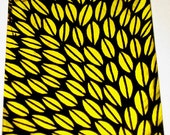 Original Drawing ACEO  Black and Yellow Leaves Design