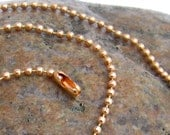 Copper Ball Chain 2mm, Your Choose Length, Copper Necklace Chain, copper ball chain necklace, all copper