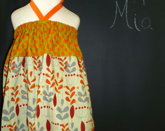 SAMPLE - Halter dress or top - Will fit Size 12-24 month up to 5T - by Boutique Mia and More - Ready To Ship
