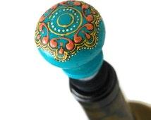 Unique Turquoise Wine Stopper