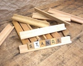 Wooden Scrabble Stand s  Great for crafts and projects etc.  Choice of one, convo for more.
