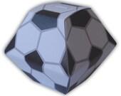 Soccer ball Digital PDF Gift Box Favor Party Printable Template