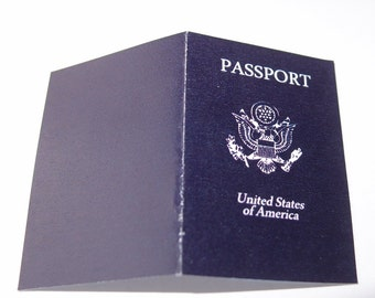 Digital PDF Passport Book World Travel Printable Blank Cards or Invitations (most countries available by request)