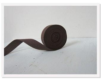 Brown Twill Tape, 3 /4 inch Dark Brown Twill Ribbon, Cotton Twill Tape, Medium Twill Ribbon