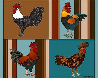 Pop Chicken print by Lisa Karen Ward
