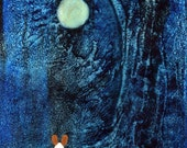 Pembroke Welsh Corgi Dog Folk Art PRINT Todd Young painting Blue Night